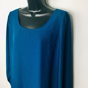 Blu pepper Anthropologie Tunic Womens Small Blue